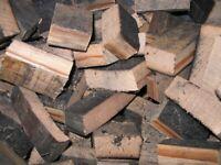 FIRE WOOD - Oak Whiskey Barrel Chunks BBQ Smoking Wood Chunks Smoker Bourbon Blocks 10kg
