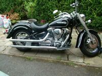 Yamaha XV1600 Wildstar Black very low miles 2nd owner from new Superb