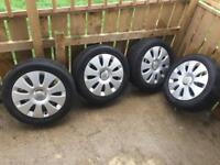Audi alloy wheels with tyres 16 inch size 205/55R16 X 4