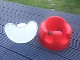 Red Bumbo Baby Seat (with Tray)