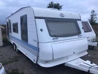 Hobby exclusive 6 berth fix bed twin axle caravan