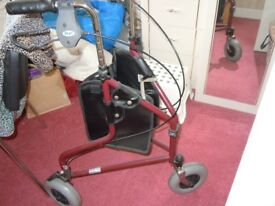 Three wheeled walker to aid independence