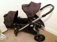 Baby Jogger City Select Double Pram Stroller Twin
