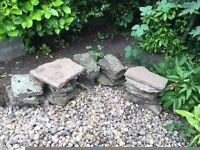 42 variable sized edging stones