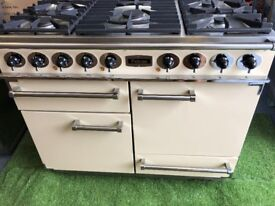 Falcon 1092 Deluxe range cooker double oven Cream and chrome appliance