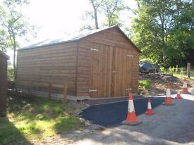 Wooden Sectional Garage. 5.3 Metres x 4 metres. Dismantled and ready to be reassembled