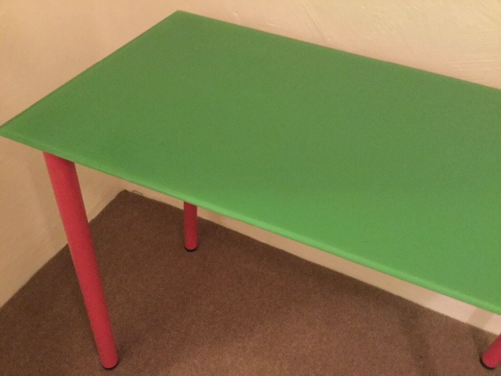 Glass topped side table/desk