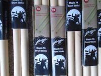 Drum Sticks, Cymbals, Drum kits, Snare Drums,Stands, Drum skins, Hoops, nuts and bolts