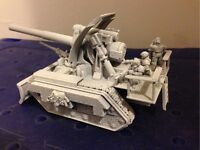 Warhammer 40k Imperial Guard Basilisk tank and crew