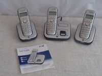 BT Studio 4500 - triple digital cordless phone with answer machine