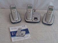 BT Studio 4500 - triple digital cordless phone with answer machine