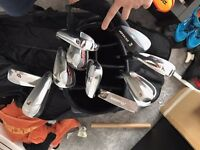 Taylor made golf clubs and accessories plus golf bag/ travel bag/ shoes