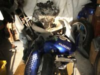 Motorbike Suzuki SV 650 No V5c Or Number Plate For Spares Or Repairs