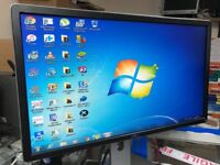 "DELL FLAT PANEL 23"" SCREEN WITH 3USBS ,DP MALE, DVI GRAPHIC , VGA PORTS"