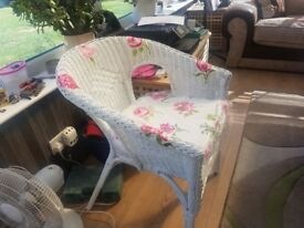 Hand painted lloyd loom style wicker chair