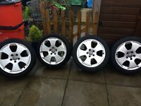 "4x17""Audi a3 sport alloys and tyres."