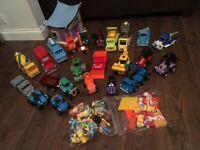 BOB THE BUILDER HUGE BUNDLE, 22 Vehicles, Lights Sounds Workshop, Figures, Accessories