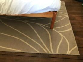 Ikea laborg beige light brown short pile rug carpet 133 x 195