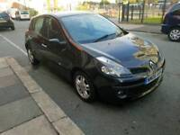 2006 RENAULT CLIO EXTREME 4 DOOR 1.4 PETROL IN BLACK WITH 12 MONTHS M.O.T