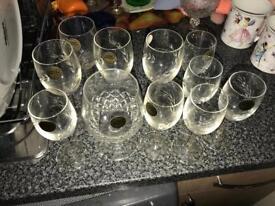 Cristal d'arques glasses