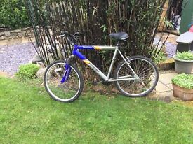 Little used mountain bicycle