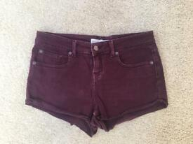 Topshop Denim Shorts, W30