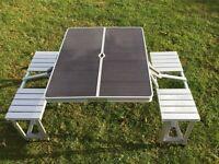 Caravan & Camping Aluminium Lightweight Folding Picnic Table & Chairs Set