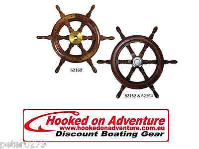 Traditional Styled Teak Steering Wheel 62164 600mm