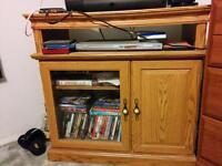 Solid oak TV stand $60
