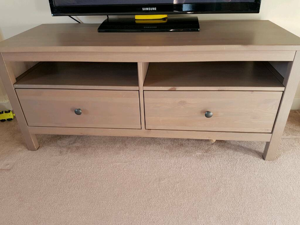 ikea hemnes tv unit bench stand grey brown reduced for quick sale in bridge of don. Black Bedroom Furniture Sets. Home Design Ideas