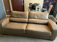 Cream leather sofa one chair need gone FREE
