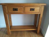 Oak Hall/Console table