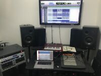 Music recording studio to share -- £5 an hour -- for rehearsals, producers, podcasters, teachers