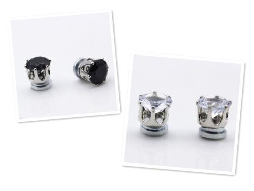Stylish No Piercing Clip on Crystal Magnetic Ear Studs Men Women Earrings Hot