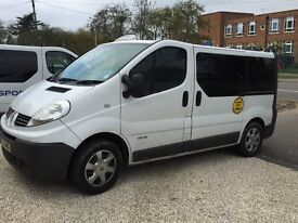 Renault trafic 9 seater taxi