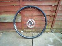 Mountain bike rear wheel alloy 26 inch