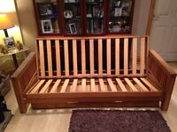 2 Seater Fold Away Sofa Bed For Sale. Make from Solid Wood.