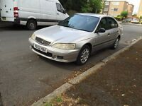 Honda Accord for sell, very long MOT, only 1 former owner, very low mileage, good condition.