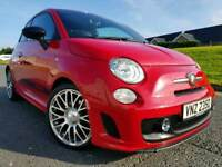 "STUNNING!! April 2014 (Pasodoble Red) Abarth 500 1.4 T-Jet 3dr! 17"" Arbarth Diamond Alloys! Finance!"