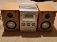 Sony micro hifi with CD/DVD, radio & cassette player - good condition