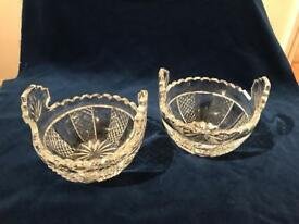 """Matching Waterford Crystal 5"""" bowls"""