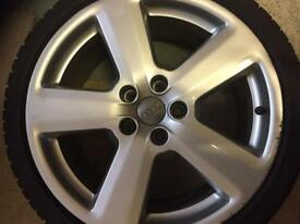 "Audi S4 Avant 4 alloys plus winter tyres 18"""