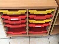 Wooden filing Trolley with trays