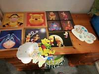 Large winnie the pooh bedroom bundle