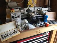 7 x 14 Lathe DRO spindle speed lots of tooling and accessories