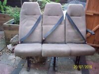 7 Mini Bus Seats (3 Seater, 2 Seater and 2 Singles)