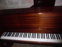 upright piano by monnington and weston