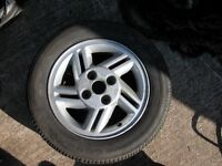 FORD ESCORT XR3i WHEEL AND TYRE 185/65/14