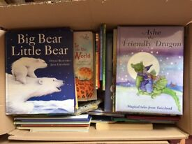 2 Boxes of 80+ Children's Hardback Story Books. Various age ranges from 2-10 years approximately.