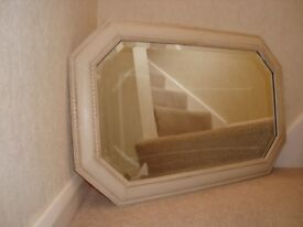 Vintage Oak framed bevel edged mirror painted in Annie Sloan chalk paint